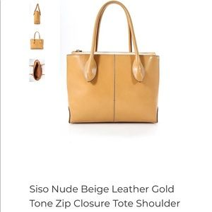 Siso Nude Beige Leather Bag